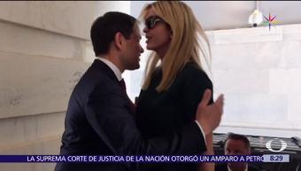 Marco Rubio, humor,Twitter, fallido abrazo, Ivanka Trump