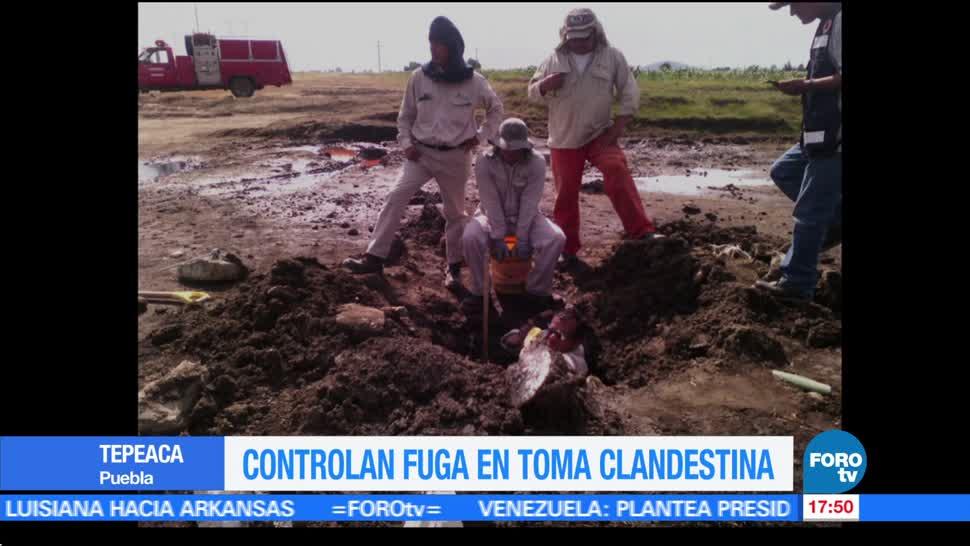 noticias, forotv, Controlan, fuga, toma clandestina, Puebla