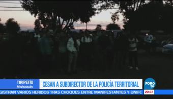 Cesan, subdirector, Policía, Territorial, Michoacán, Tiripetío