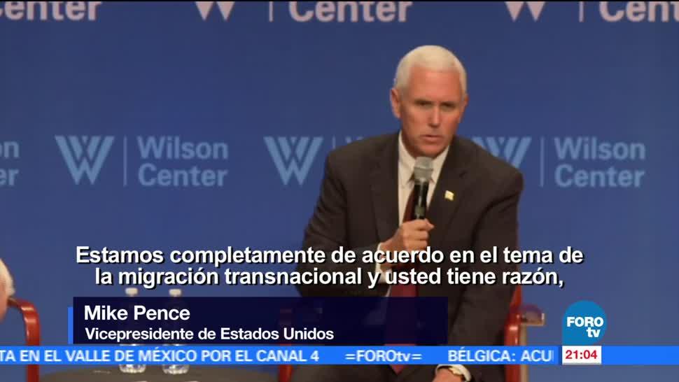 Mike Pence, agradece apoyo, México, frontera, crimen, inseguridad