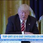 Trump, no tiene, grabaciones, con Comey, intervención rusa,. elecciones