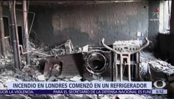 Refrigerador, malas condiciones, desató incendio, Torre Grenfell de Londres