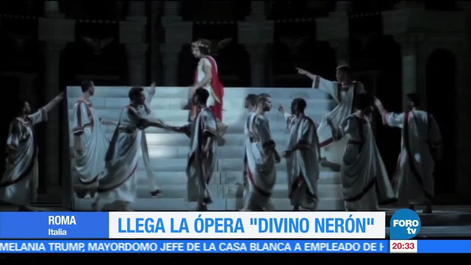 Ópera, rock, Divino Nerón, se presenta, Roma, Italia