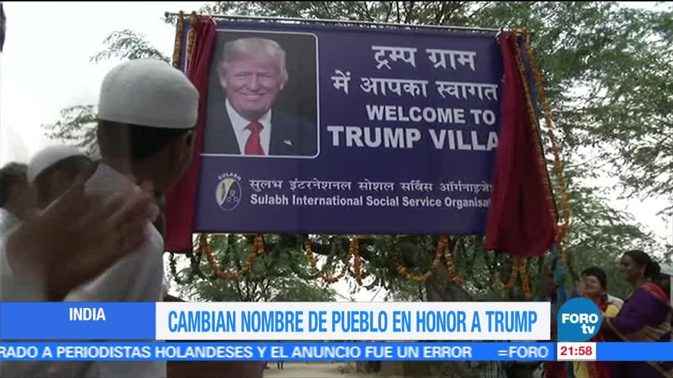 Cambian, nombre, pueblo, India, honor, Donald Trump