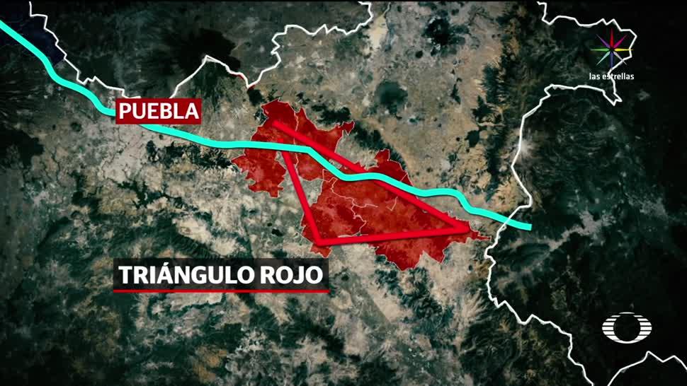 efecto, cucaracha, Triángulo, Rojo, huachicol, Puebla
