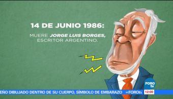 El escritor argentino, Jorge Luis Borges, 14 de junio de 1986, Muere
