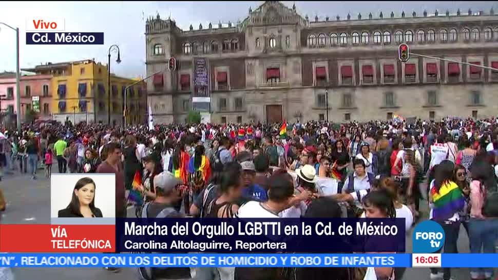 Contingente, marcha gay, llega, Zócalo capitalino, comunidad, lgbttti