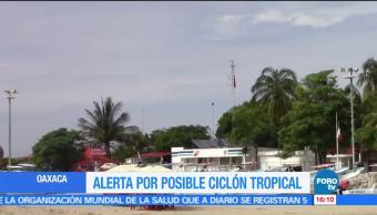 Alerta, Oaxaca, desarrollo, ciclón cierran, puertos