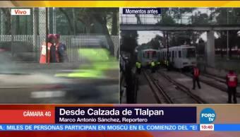 sistema del Tren Ligero, descarrilamiento, estación Textitlán, restablecerse