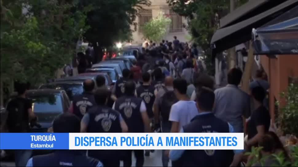 Policía, impide, marcha gay, Turquía