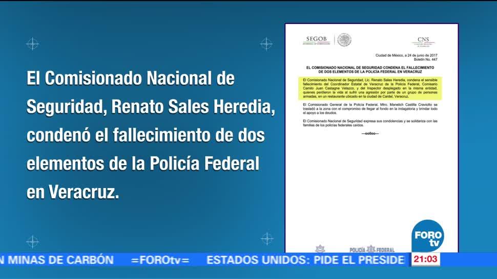 Renato Sales, condena, hechos donde murieron, elementos federales, crimen, veracruz