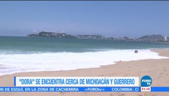 Alerta, tormenta tropical, Dora, Guerrero, condiciones, climatológicas