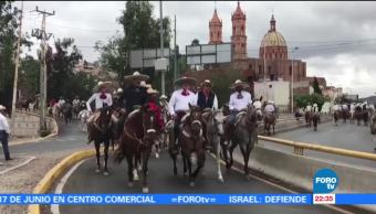 Cabalgata, Revolucionaria, conmemorar, aniversario, Batalla, Zacatecas