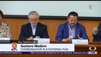 Gustavo Madero, Plataforma PAN, alianza para 2018, candidato presidencial