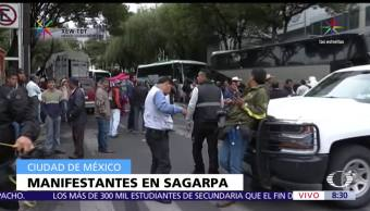 Manifestantes, vialidad, instalaciones, Sagarpa, CDMX