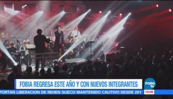 grupo mexicano Fobia, Leonardo de Lozanne, nuevos integrantes, nuevos sencillos