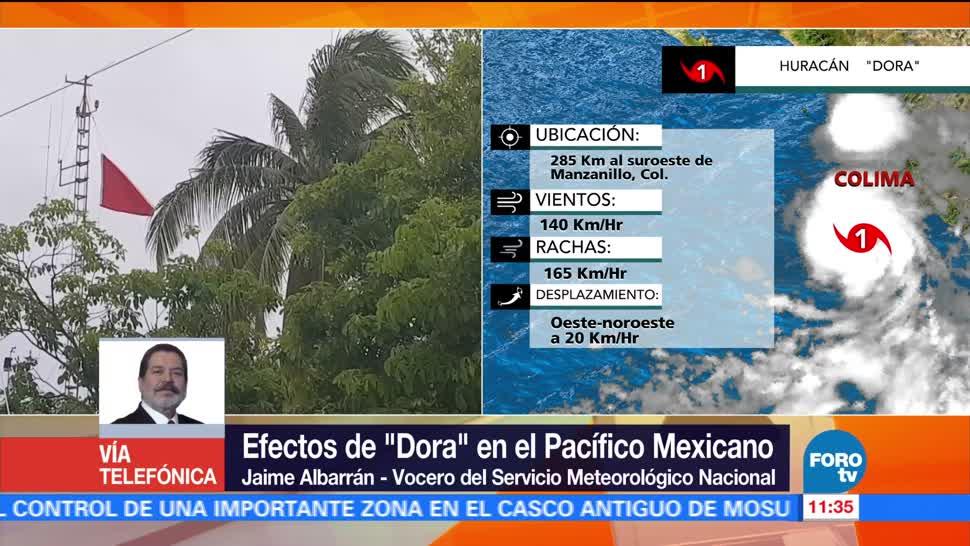 Jaime Albarrán, servicio meteorológico nacional, huracán Dora, Manzanillo, Colima