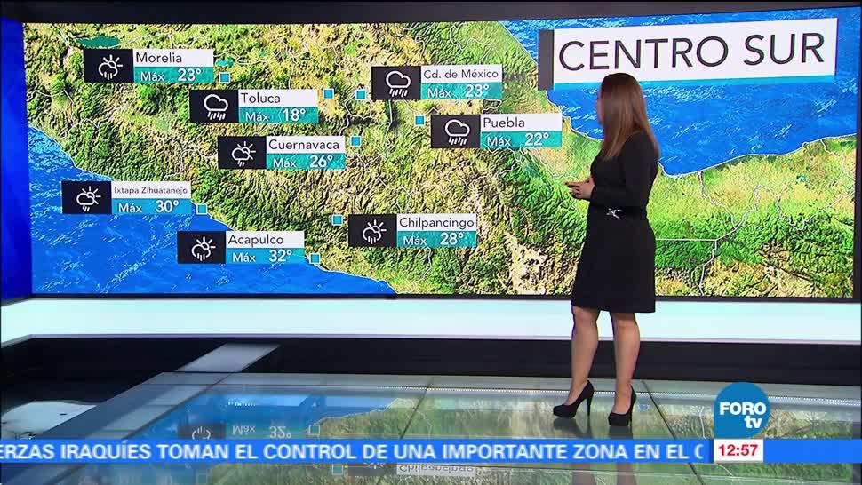 Ciudad de México, grados, temperatura máxima, probabilidad, lluvia
