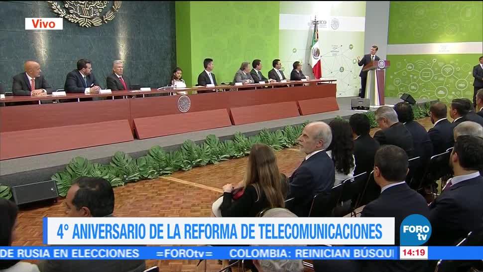 presidente, Peña Nieto EPN, cuarto aniversario, Reforma de Telecomunicaciones