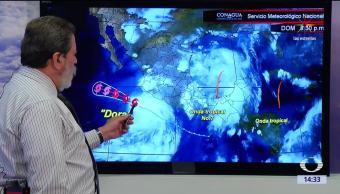 Alerta, huracán Dora, Pacífico, estados