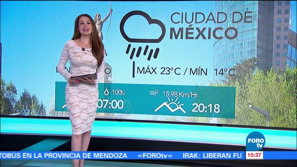 El clima, Mayte Carranco, prevén lluvias