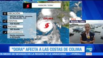 Efectos, huracán Dora, Marea alta, lluvia dispersa,