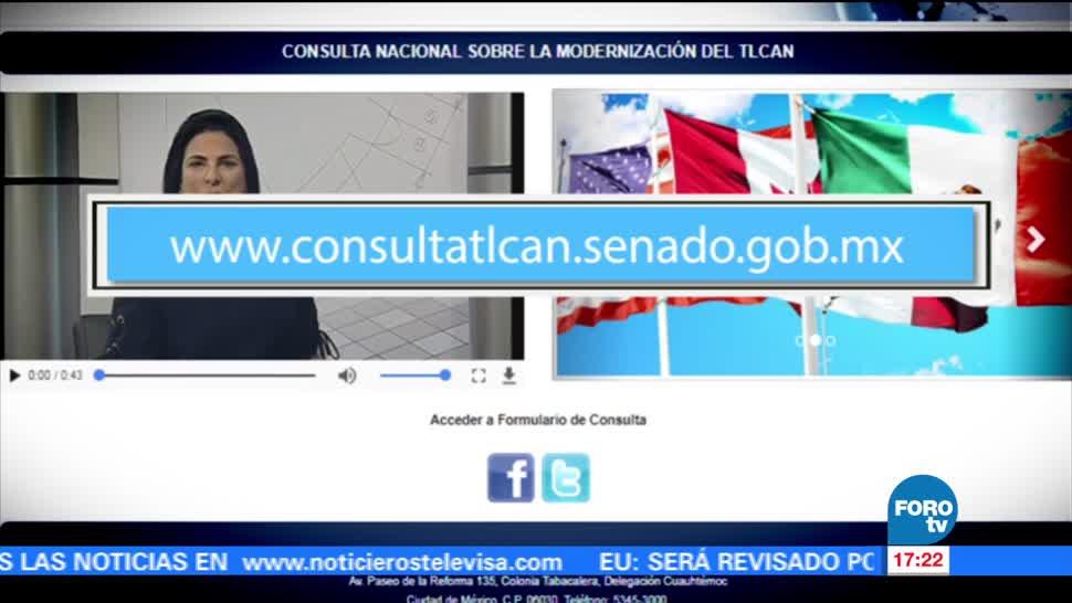 Senado, lanza sitio, consulta ciudadana, TLCAN