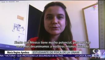 María Regina Apodaca, estudiante de Física, UNAM, helicóptero, misión a Marte