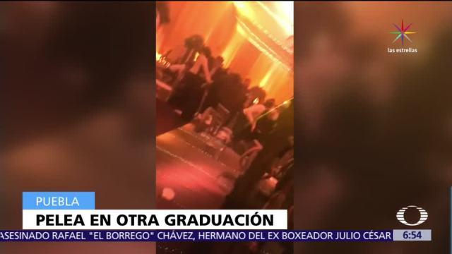 nueva pelea, estudiantes, fiesta de graduación, Puebla, Colegio Americano
