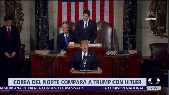 Norcorea, política de Donald Trumpm, Adolfo Hitler, nazismo