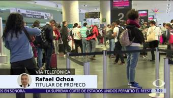 Rafael Ochoa, Procuraduría Federal del Consumidor, sanciones, aerolíneas, retrasos