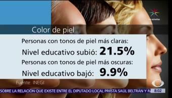INEGI, color de la piel, posición social, empleo, mejor educación