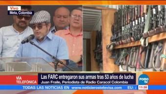 Juan Fraile, Radio Caracol Colombia, FARC, armas