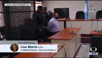 Duarte, acepta extradición, concluye audiencia, Guatemala