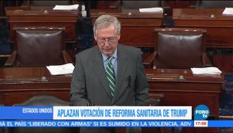 Aplazan, votación, Reforma de Salud, Trump