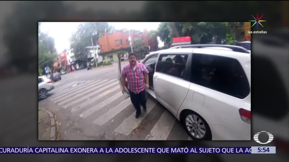 Conductor agrede, ciclista, Condesa, CDMX