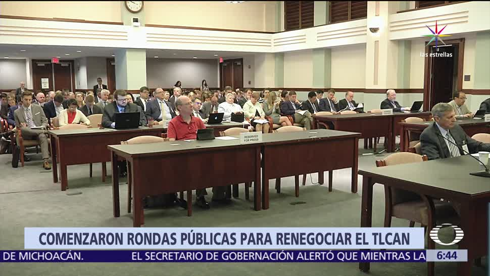 Estados Unidos, inicia audiencias públicas, renegociación, TLC