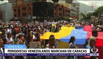 Periodistas, marchan, Caracas, libertad de expresión
