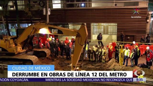 registra derrumbe, obras, Línea 12 del Metro, CDMX