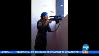 Siria, francotiradora, grupo terrorista, Estado Islámico, bala