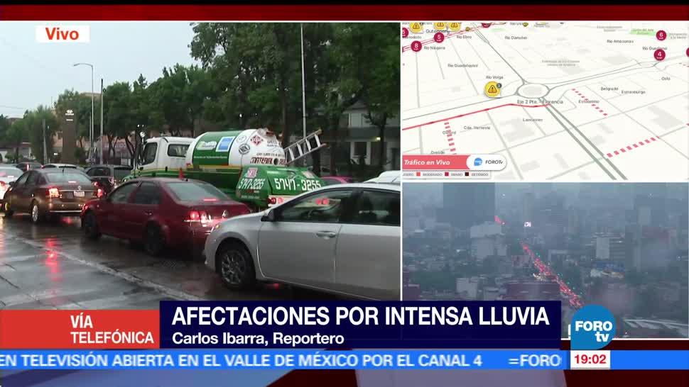 noticias, forotv, Polanco, Santa Fe, afectados por las lluvias, lluvias