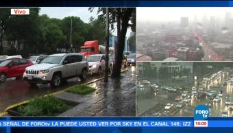 noticias, forotv, Lluvia, tráfico, caos, CDMX
