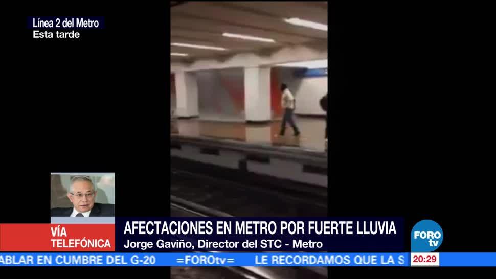 noticias, forotv, Afectaciones, Línea 2 y 7, Metro, lluvias