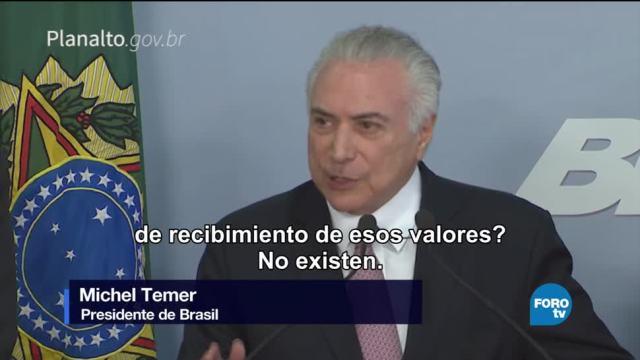 noticias, forotv, Fiscal de Brasil, denuncia, Michel Temer, corrupción