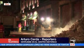 noticias, forotv, Lluvias, provocan derrumbe, Centro Histórico, CDMX