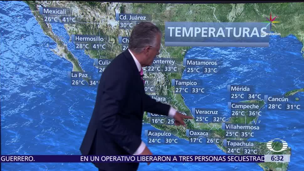 Despierta con Tiempo, Continuará, ambiente muy caluroso, noroeste de México