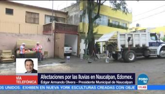 Edgar Armando Olvera, presidente municipal, Naucalpan, río Hondo, intensas lluvias