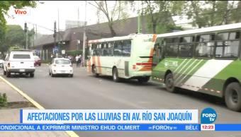 afectaciones, lluvias, Río San Joaquín, CDMX, Metro CDXM