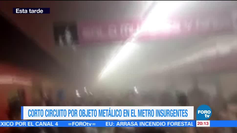 noticias, forotv, Se registra, cortocircuito, Metro, Insurgentes