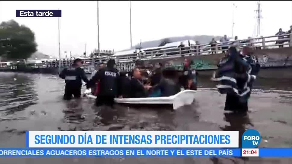 noticias, forotv, Segundo día, lluvias, Ciudad de México, Indios Verdes